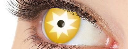 Augen mit eingesetzten Motiv Kontaktlinsen