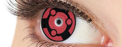 Augen mit Sharingan Kontaktlinsen